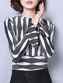cheap Women's Hoodies & Sweatshirts-women's going out blouse - striped crew neck