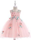 Χαμηλού Κόστους Φορέματα για κορίτσια-Παιδιά Κοριτσίστικα Βασικό / Γλυκός Καθημερινά / Σχολείο Φλοράλ Αμάνικο Ως το Γόνατο Βαμβάκι / Πολυεστέρας Φόρεμα Λευκό