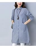 ieftine Rochii de Damă-Pentru femei Vintage Mâneci Bufante Shift Rochie - Plisată, Mată Lungime Genunchi
