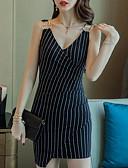 זול שמלות נשים-מיני פסים - שמלה צינור בגדי ריקוד נשים