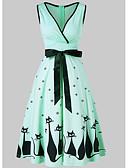 tanie Sukienki-Damskie Wyjściowe Szczupła Pochwa Sukienka W serek Wysoka Talia Midi