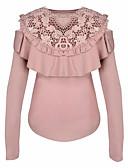 abordables Vestidos de Mujer-Mujer Algodón Camiseta Un Color / Floral