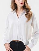 ieftine Bluză-Pentru femei Bluză De Bază - Mată Peteci
