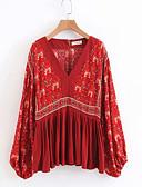 ieftine Bluză-Pentru femei Bluză Vintage - Floral Imprimeu