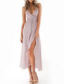 cheap Print Dresses-Women's Slim Sheath Dress - Floral High Waist Strap / Summer