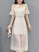 tanie Sukienki-Damskie Bawełna Zmiana Sukienka Do kolan