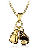 رخيصةأون ساعات رجالية-للرجال ستايل سلسلة الثعلب قلائد الحلي / قلادات السلسلة - قفازات الملاكمة أنيق, أوروبي, هيب هوب كوول ذهبي, فضي 60 cm قلادة مجوهرات 1PC من أجل هدية, شارع