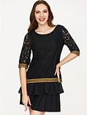 ieftine Bluză-Pentru femei Bluză Vintage-Mată Bloc Culoare
