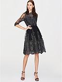 זול שמלות נשים-מידי אחיד - שמלה סקייטר\מחליקה על הקרח סגנון רחוב בגדי ריקוד נשים / קיץ / תחרה