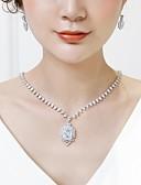 preiswerte Büstenhalter-Damen Kubikzirkonia Stilvoll Schmuck-Set - Modisch, Elegant Einschließen Tropfen-Ohrringe Anhängerketten Weiß Für Hochzeit Party