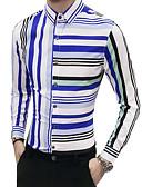 baratos Camisas Masculinas-Homens Camisa Social Moda de Rua Listrado