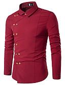 abordables Camisas de Hombre-Hombre Básico Camisa Un Color