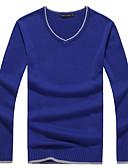 povoljno Muške košulje-Muškarci Dnevno Osnovni / Ulični šik Jednobojni Dugih rukava Slim Regularna Pullover, V izrez Jesen / Zima Bijela / Lila-roza / Svijetlosiva L / XL / XXL