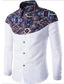 abordables Camisas de Hombre-Hombre Básico Camisa Geométrico