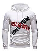ieftine Maieu & Tricouri Bărbați-Bărbați Activ / Șic Stradă Mărime Plus Size Zvelt Pantaloni - Bloc Culoare / Scrisă Imprimeu Alb / Capișon / Sport / Manșon Lung / Primăvară / Toamnă