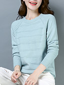 cheap Women's Sweaters-women's long sleeve pullover - solid colored crew neck