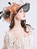 cheap Women's Hats-Women's Vintage / Holiday Bucket Hat / Floppy Hat / Sun Hat - Solid Colored / Floral Ruffle / Mesh