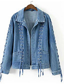 cheap Women's Denim Jackets-Women's Active Denim Jacket - Solid Colored