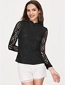 ieftine Tricou-Pentru femei Bluză De Bază - Mată Dantelă