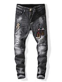 ieftine Pantaloni Bărbați si Pantaloni Scurți-Bărbați Șic Stradă Blugi Pantaloni Scrisă