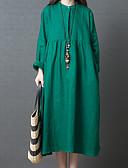 preiswerte Maxi-Kleider-Damen Retro / Grundlegend Etuikleid / Tunika Kleid Solide Maxi