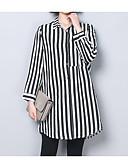 ieftine Bluze & Camisole Femei-Pentru femei Guler Cămașă - Mărime Plus Size Cămașă Dungi