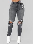 ieftine Pantaloni de Damă-Pentru femei De Bază / Șic Stradă Blugi Pantaloni Mată