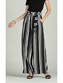 hesapli Seksi Kadın Kıyafetleri-Kadın's Temel / Abartılı Geniş Bacak / Chinos Pantolon Çizgili