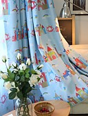 cheap Men's Blazers & Suits-Blackout Curtains Drapes Kids Room Cartoon Polyester Blend Printed