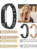 זול להקות Smartwatch-צפו בנד ל Fitbit Alta HR / Fitbit Alta פיטביט רצועת ספורט / עיצוב תכשיטים מתכת אל חלד רצועת יד לספורט