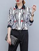 ieftine Tricou-Pentru femei Tricou De Bază - Dungi