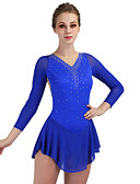 cheap Bridesmaid Dresses-Figure Skating Dress Women's Girls' Ice Skating Dress Aquamarine High Elasticity Leisure Sports Competition Skating Wear Breathable Quick Dry Anatomic Design Curve Classic Sleeveless Ice Skating