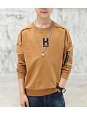 ieftine Maieu & Tricouri Bărbați-Copii Băieți De Bază Mată Manșon Lung Bumbac Tricou
