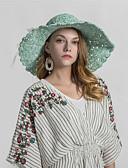 baratos Chapéus Femininos-Mulheres Básico De Palha Estampado