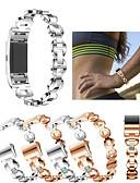halpa Smartwatch-nauhat-Watch Band varten Fitbit Charge 2 Fitbit Urheiluhihna / Korudesign Ruostumaton teräs / Keraaminen Rannehihna