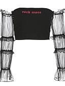 tanie T-shirt-podkoszulek Damskie Wyjściowe Z odsłoniętymi ramionami Litera / Litera