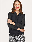 cheap Women's Blouses-Women's Holiday Active Blouse Shirt Collar / Lace up