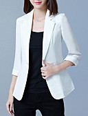 cheap Women's Blazers & Jackets-women's going out blazer-solid colored peter pan collar