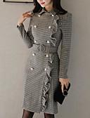 رخيصةأون فساتين للنساء-فستان نسائي ثوب ضيق فوق الركبة ضيق قبعة القميص مناسب للخارج