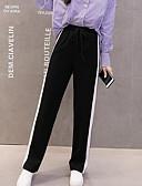 cheap Women's Skirts-Women's Cotton Sweatpants Pants - Solid Colored Black