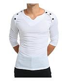 povoljno Muške majice i potkošulje-Majica s rukavima Muškarci - Osnovni Dnevno Jednobojni Okrugli izrez Slim / Dugih rukava