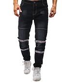 abordables Pantalones y Shorts de Hombre-Hombre Algodón Delgado Chinos Pantalones - Bloques