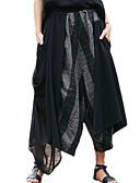cheap Women's Dresses-Women's Basic Wide Leg Pants - Striped Blue & White, Mesh / Patchwork / Lace Trims