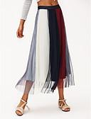 cheap Leggings-Women's Maxi A Line Skirts - Color Block High Waist