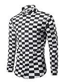 cheap Men's Underwear & Socks-men's shirt - check shirt collar