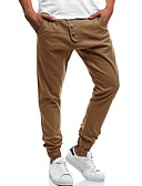 cheap Men's Pants & Shorts-Men's Plus Size Cotton Harem / Sweatpants Pants - Solid Colored Gray / Spring / Fall