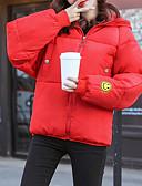 ieftine Fuste de Damă-Pentru femei Ieșire Bloc Culoare Regular Parka, Poliester Manșon Lung Capișon Roșu-aprins / Verde Militar / Gri Deschis L / XL / XXL