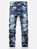 ieftine Pantaloni Bărbați si Pantaloni Scurți-Bărbați Activ Mărime Plus Size Bumbac Zvelt Blugi Pantaloni - camuflaj Găurite Albastru piscină