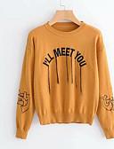 povoljno Ženski džemperi-Žene Osnovni Pullover Slovo