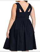 tanie Sukienki-Damskie Podstawowy Linia A Sukienka - Solidne kolory Do kolan